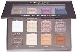 Perfumería y cosmética Paleta de sombras de ojos, 12 colores - Bellapierre 12 Colour Pro Natural Eye Palette