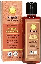 """Perfumería y cosmética Aceite activador de la microcirculación """"10 hierbas"""" - Khadi"""