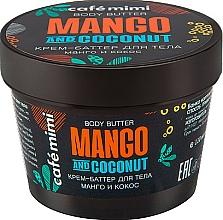 Perfumería y cosmética Manteca corporal, mango & coco - Cafe Mimi Body Butter Mango And Coconut