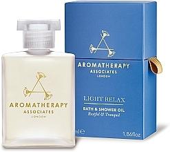 Perfumería y cosmética Aceite de baño y ducha relajante con aceites de lavanda y ylang-ylang - Aromatherapy Associates Light Relax Bath & Shower Oil