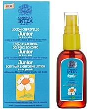 Perfumería y cosmética Loción aclarante de vello con extracto de camomila - Intea Premium Junior Body Hair Lightening Spray With Natural Camomile Extract