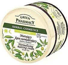 Perfumería y cosmética Crema matificante con extracto de té verde y con aceites de macadamia & oliva - Green Pharmacy Normalizing Matting Cream