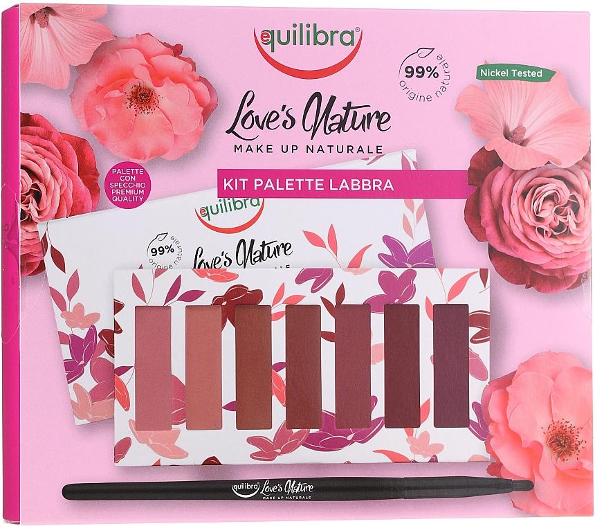 Paleta de labiales con karité, aceite de jojoba y ácido hialurónico - Equilibra Love's Nature Lip Palette Kit