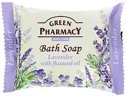 Perfumería y cosmética Jabón corporal con lavanda y aceite de linaza - Green Pharmacy