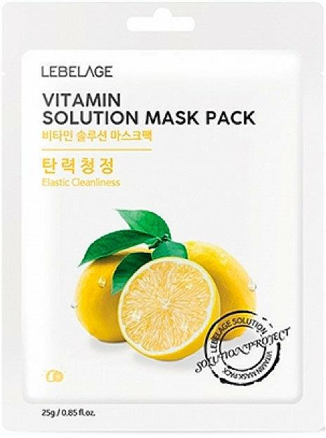 Mascarilla facial de tejido con extracto de limón - Lebelage Vitamin Solution Mask