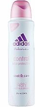 Perfumería y cosmética Desodorante antitranspirante con polvo de algodón y 0% acohol - Adidas Anti-Perspirant Control Ultra Protection 48h