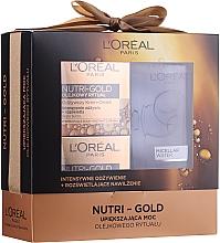 Perfumería y cosmética Set facial (crema-mascarilla/50 ml+ crema-manteca/50 ml+ agua micelar/200 ml) - Loreal Nutri Gold