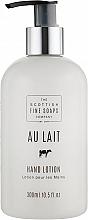 Perfumería y cosmética Jabón de manos cremoso con aceite de almendras, aroma a leche - Scottish Fine Soaps Au Lait Hand Lotion