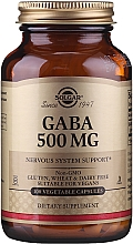 Perfumería y cosmética Complemento alimenticio en cápsulas de Ácido gamma aminobutírico, 500 mg, 100 cáp. - Solgar Gaba 500 mg