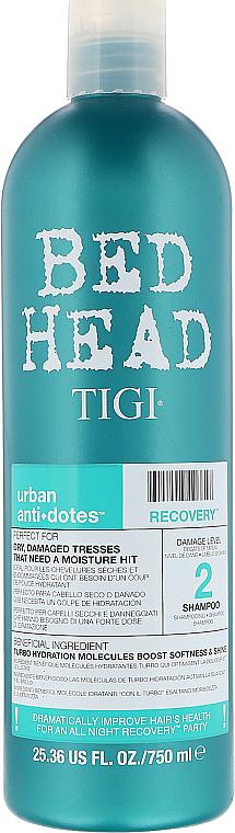 Champú regenerador con ácido cítrico, geraniol, mica y linalol - Tigi Bed Head Urban Anti+Dotes Recovery Shampoo — imagen N3