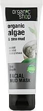 Perfumería y cosmética Mascarilla facial de barro con algas orgánicas - Organic Shop Mud Mask Face