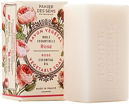 Perfumería y cosmética Jabón vegetal extra suave con aceite de rosa damascena - Panier des Sens Rose Extra-Gentle Vegetable Soap