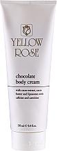 Perfumería y cosmética Crema de masaje corporal reafirmante de cacao y pomelo - Yellow Rose Chocolate Body Cream