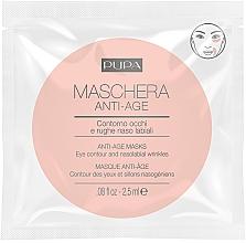 Perfumería y cosmética Mascarilla contorno de ojos y nasolabial con extracto de semilla de nogal - Pupa Single Dose Anti-Age Masks