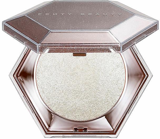 Iluminador compacto en polvo de diamantes para rostro y cuerpo - Fenty Beauty By Rihanna Diamond Bomb