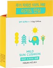 Perfumería y cosmética Protector solar cushion para bebés y niños con extractos de sandía y naranja - Holika Holika Mild Sun Cushion SPF45