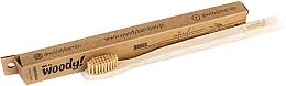 Perfumería y cosmética Cepillo dental de bambú, dureza media, beige - WoodyBamboo Bamboo Toothbrush Natural