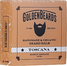 Perfumería y cosmética Bálsamo orgánico artesanal para barba con mantecas de karité, cacao y aceite de jengibre - Golden Beards Beard Balm Toscana