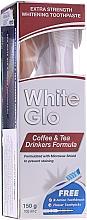 Perfumería y cosmética Set dental blanqueador extra fuerte, fórmula para bebedores de café y té - White Glo Coffee & Tea Drinkers Formula Whitening Toothpaste (pasta/100ml + cepillo)
