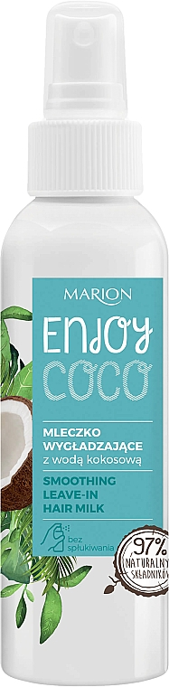 Leche capilar sin aclarado con agua de coco y extracto de flor de cactus - Marion Enjoy Coco Smoothing Leave In Hair Milk