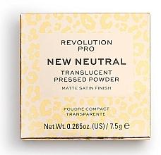 Perfumería y cosmética Polvo prensado translúcido con efecto mate - Revolution Pro New Neutral Translucent Pressed Powder