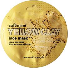 Perfumería y cosmética Mascarilla facial con arcilla amarilla - Cafe Mimi Face Mask