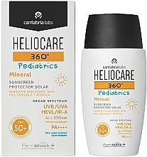 Perfumería y cosmética Crema de protección solar infantil, pieles atópicas, SPF 50+ - Cantabria Labs Heliocare 360? Pediatrics Mineral SPF 50+