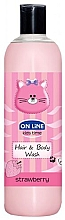 Perfumería y cosmética Champú y gel de ducha infantil con aroma a fresa - On Line Kids Time Hair & Body Wash Strawberry
