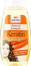 Perfumería y cosmética Champú reparador fortificante con queratina & pantenol - Bione Cosmetics Keratin + Panthenol Hair Shampoo