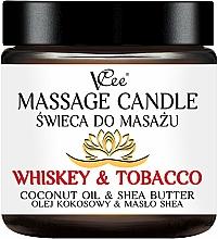Perfumería y cosmética Vela de masaje con aroma a whisky y tabaco - VCee Massage Candle Whiskey & Tobacco Coconut Oil & Shea Butter