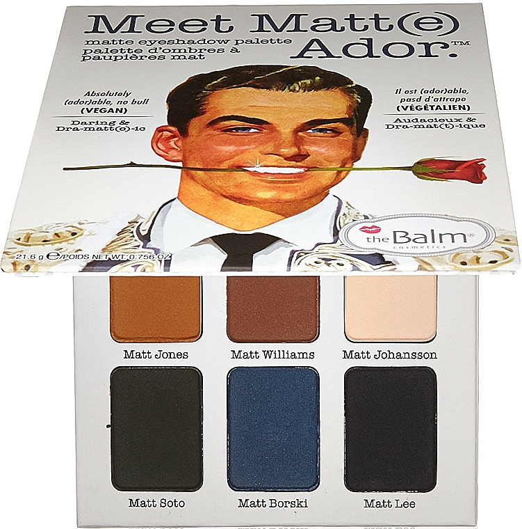 Paleta de sombras de ojos, mate - theBalm Meet Matt(e) Ador Matte Eyeshadow Palette