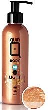 Perfumería y cosmética Loción corporal con pigmentos para efecto bronceado natural, pieles claras - Silcare Quin Fluid BB 1 Body Shine Light