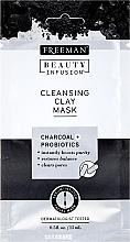 Perfumería y cosmética Mascarilla facial con carbón activado y probióticos - Freeman Beauty Infusion Cleansing Clay Mask Charcoal & Probiotics (mini)
