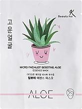 Perfumería y cosmética Mascarilla facial de algodón con extracto de aloe - Beauty Kei Micro Facialist Boosting Aloe Essence Mask