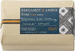 Perfumería y cosmética Bath House Bergamot & Amber - Jabón calmante con aroma a bergamota & ámbar