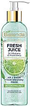 Perfumería y cosmética Gel micelar facial con jugo de lima y ácido salicílico - Bielenda Fresh Juice Detox Lime
