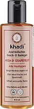 Perfumería y cosmética Gel de baño y ducha con aroma a pomelo - Khadi Bath & Body Wash Neem & Grapefruit