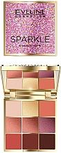 Perfumería y cosmética Paleta de sombras de ojos, 9 colores - Eveline Cosmetics Sparkle