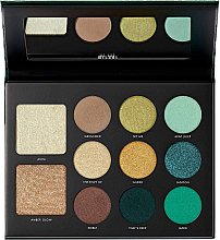 Perfumería y cosmética Paleta de maquillaje con espejo - Milani Gilded Jade Hyper-Pigmented Eye & Face Palette