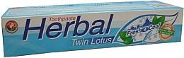 Perfumería y cosmética Pasta dental a base de hierbas - Twin Lotus Fresh & Cool