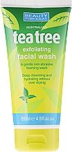 Perfumería y cosmética Gel de limpieza facial con árbol de té - Beauty Formulas Tea Tree Exfoliating Facial Wash