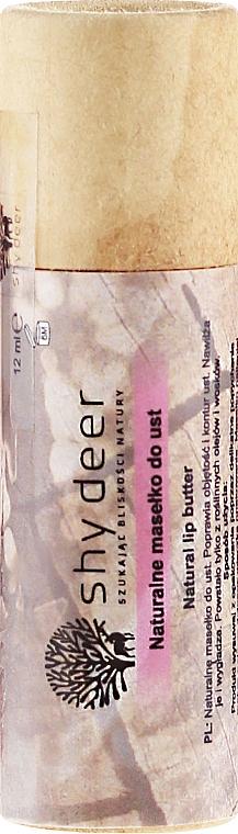 Manteca de labios natural con aceite de jojoba y extracto de granada - Shy Deer Natural Lip Butter