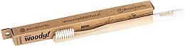 Perfumería y cosmética Cepillo dental de bambú, dureza media, blanco - WoodyBamboo Bamboo Toothbrush Colour