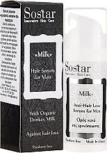 Perfumería y cosmética Sérum anticaída de cabello con leche orgánica de burra - Sostar Donkey Milk Men Anti-Hair Loss Serum