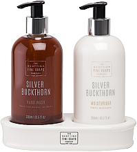 Perfumería y cosmética Set (jabón líquido/300ml + crema de manos/300ml) - Silver Buckthorn Hand Care Set