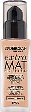 Perfumería y cosmética Base de maquillaje mate resistente en condiciones de calor y humedad - Deborah Extra Mat Perfection SPF20