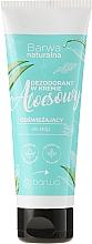 Perfumería y cosmética Crema refrescante y antitranspirante para pies con desodorante y extracto de aloe vera - Barwa Natural Aloe Deodorant Cream