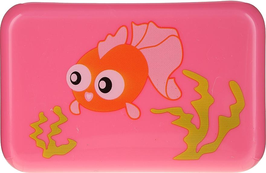 Jabonera infantil, 6024, rosa con pez - Donegal