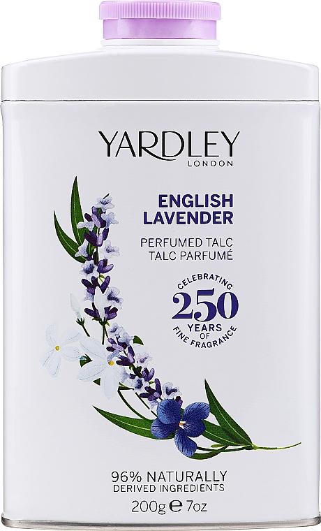 Yardley English Lavender Perfumed Talc - Talco corporal perfumado con lavanda inglesa y notas de almizcle
