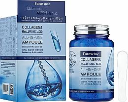 Perfumería y cosmética Sérum facial con colágeno y ácido hialurónico - FarmStay Collagen & Hyaluronic Acid All-In-One Ampoule